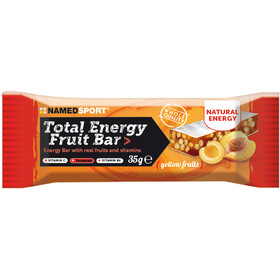 NAMEDSPORT Total Energy Caja Barritas Fruta 25 x 35g, Yellow Fruits